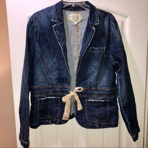 Old Navy Denim Jacket with Tie Detail